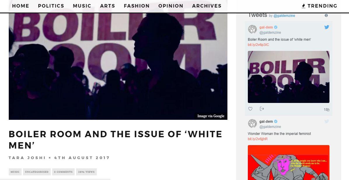 boiler room racism white agenda