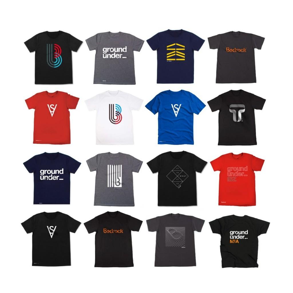 bedrock t-shirts