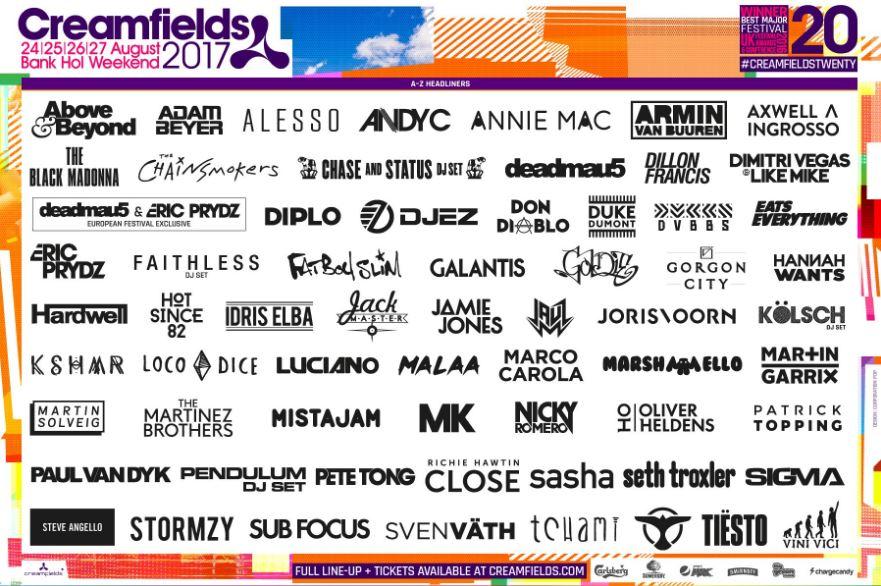 creamfields lineup 2017 change underground