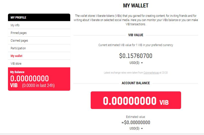 viberate wallet