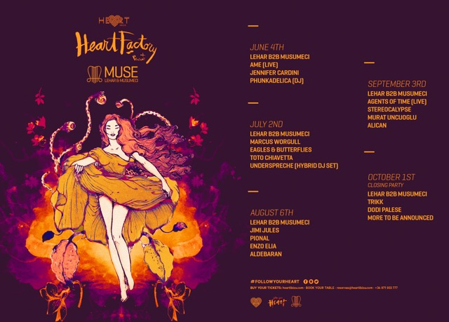 Lehar & Musumeci Announce New Residency MUSE at Heat Ibiza ile ilgili görsel sonucu